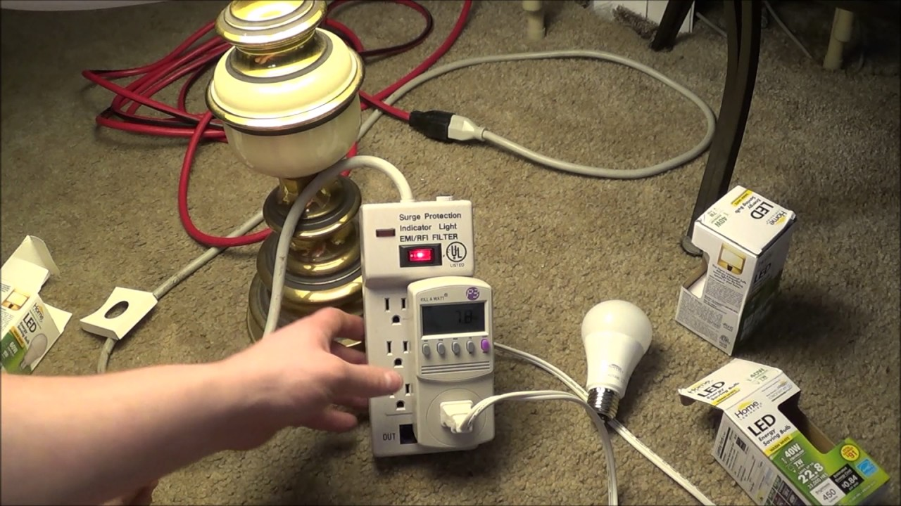 Dollar Tree Led Light Bulbs Kill A Watt Testing Youtube