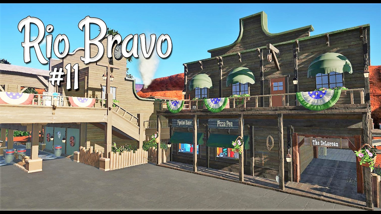 Planet coaster western rio bravo ep 11 main street for Plante western