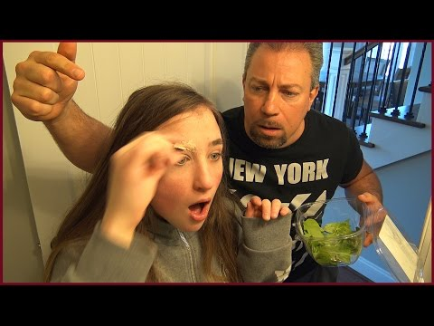 Shaving Eyebrow off Prank on Dad Goes Wrong