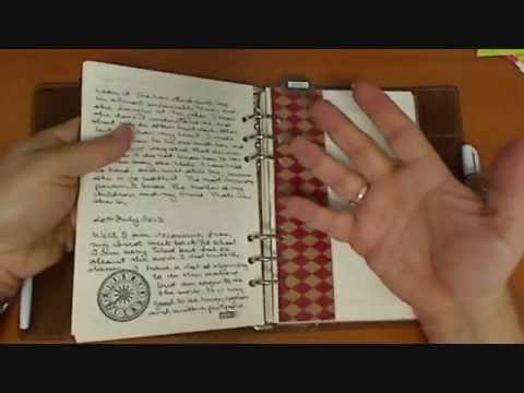 Kent from Oz Show Us His Personally Printed Filofax Journal Pages