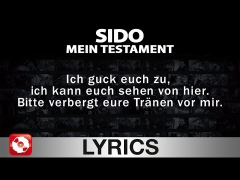 SIDO - MEIN TESTAMENT - AGGROTV LYRICS KARAOKE (OFFICIAL VERSION)