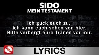 SIDO - MEIN TESTAMENT - AGGROTV LYRICS KARAOKE (OFFICIAL VER...