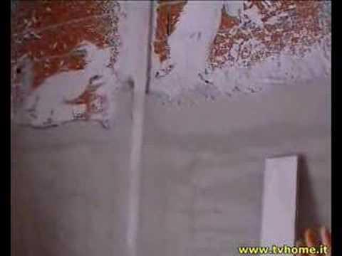 Pareti In Gesso O Stabilitura : Fasi intonaco interno www.tvhome.it youtube