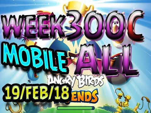 Angry Birds Friends Tournament All Levels Week 300-C MOBILE Highscore POWER-UP walkthrough
