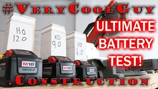 Milwaukee M18 Batteries - Battery Comparison Test 6.0 VS 9.0 VS 12.0