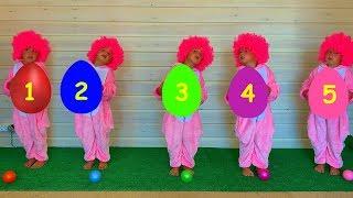 Aprende colores con cinco monitos. Canciones infantiles y canciones infantiles