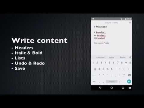 Android WriterPlus Demo