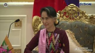President Duterte meets with Myanmar