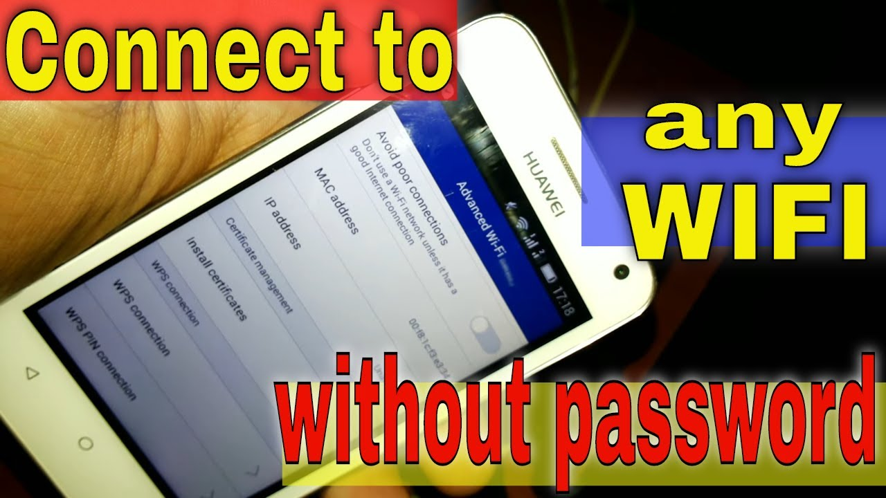how to connect wifi without password?