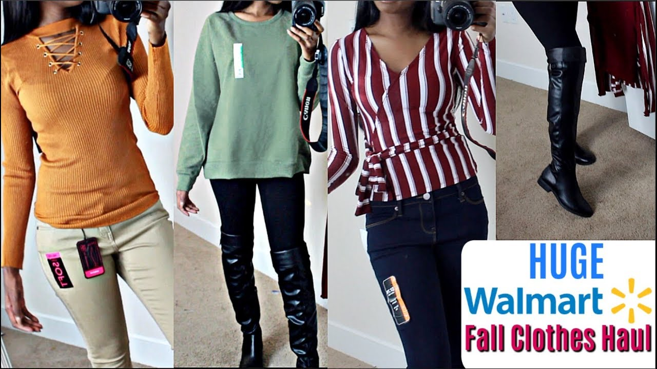 HUGE WALMART CLOTHING TRY ON HAUL FALL + WINTER OUTFITS | LOOK BOUGIE ON A BUDGET 1