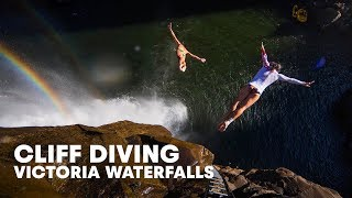 Cliff Diving The Worlds Largest Waterfall: Victoria Falls