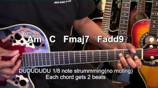 How To Play BREATHE ME Sia On Guitar Tutorial EricBlackmonMusicHD