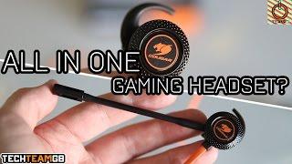 cougar megara, unboxing, gaming headset in ear - StrujenDota