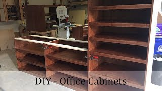 Woodworking Project - DIY Office Cabinets