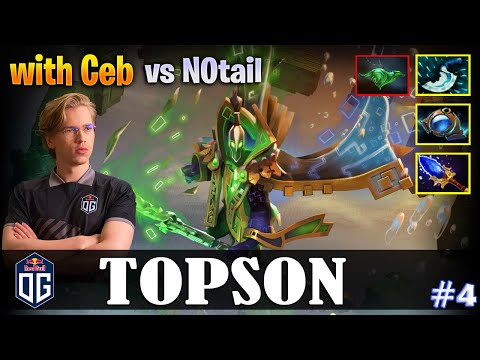 Topson - Rubick MID | With Ceb | Vs N0tail | Dota 2 Pro MMR Gameplay #4