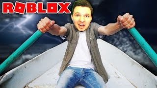 SURVIVE THE STORM IN A WOODEN BOAT !!   Roblox