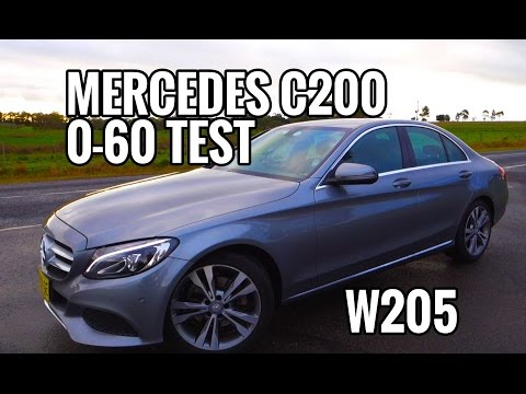 2016 Mercedes Benz C200 W205 0-60 0-100 Acceleration Times Review EP#4