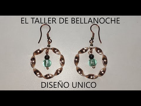 como-hacer-unos-pendientes-de-aro-de-alambre-plano-beebeecraft-how-to-make-flat-wire-hoop-earrings