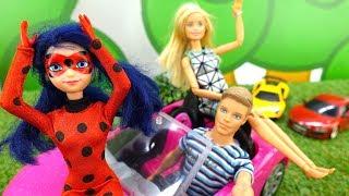 Игры для девочек. Куклы Леди Баг, Барби и машинки