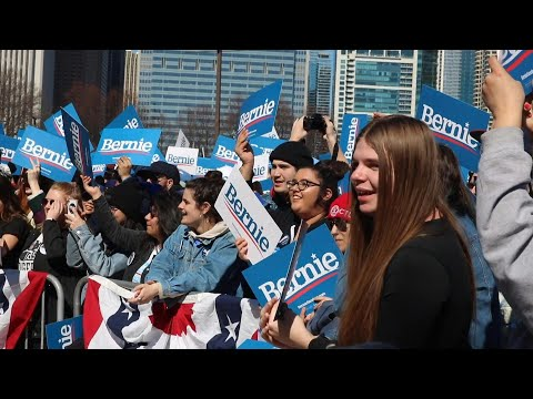 Bernie Sanders supporters rally ahead of Tuesday primaries | AFP