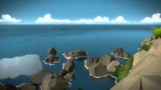 The Witness - Explore 1st Tutorial Castle: Ramparts, Hexagon Door Puzzle Shortcut Gameplay Sequence