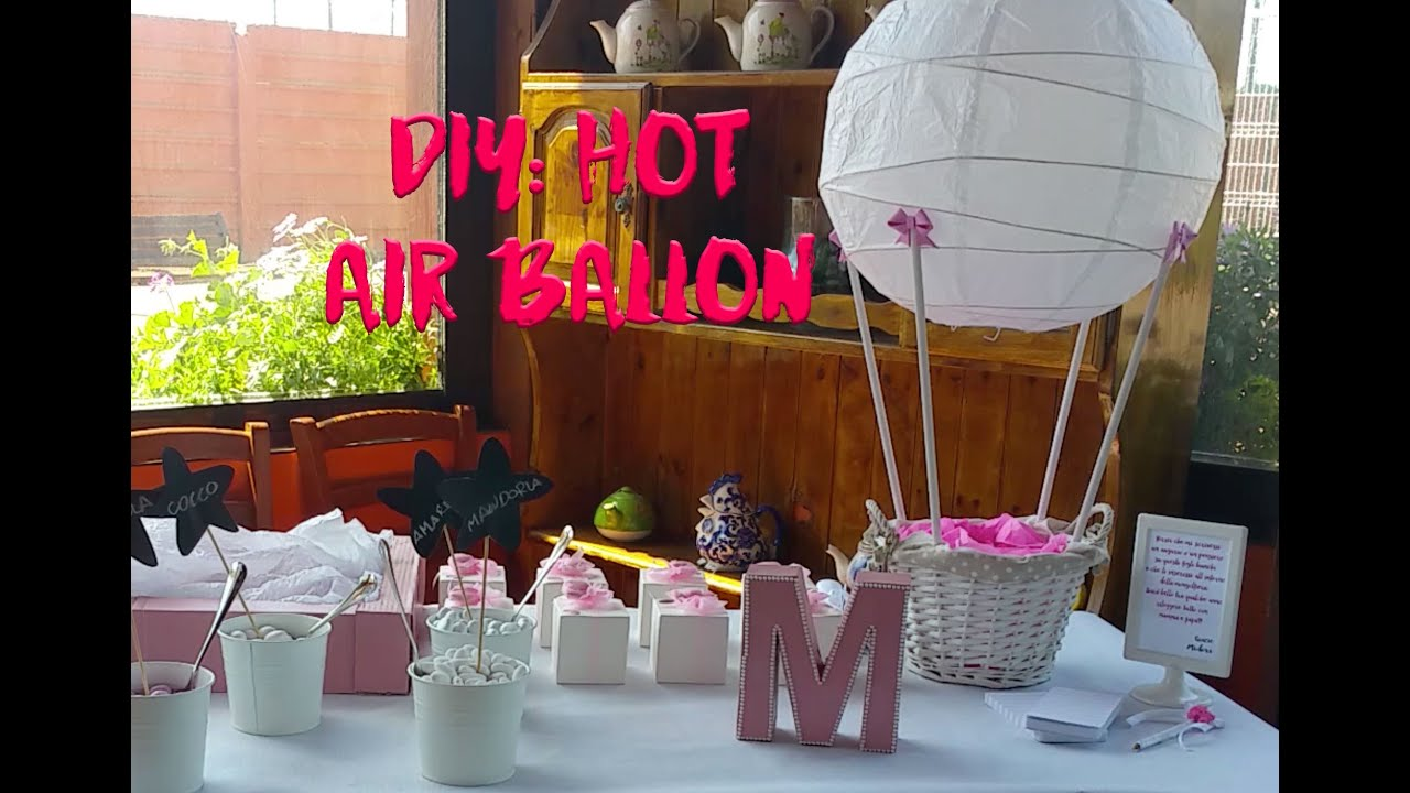 Diy Hot Air Ballon With Ikea Lamp Diy Mongolfiera Con Lampada Ikea
