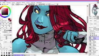 Speed Coloring Mystique of All New X Men