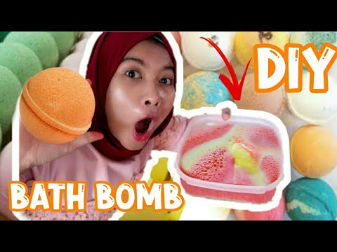 DIY EASY BATHBOMB | CARA MEMBUAT BATH BOMB SENDIRI | soniashsp - YouTube