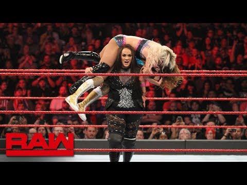 Bliss & James vs. Jax & Tamina - WWE Women's Tag Team Title Qualifying Match: Raw, Jan. 28, 2019