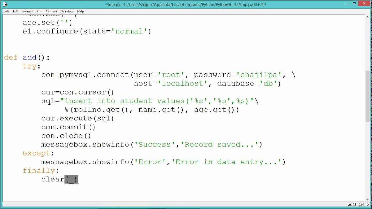 Python Program - Add Delete Modify
