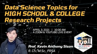 [FSH SPECIAL TOPIC] Data Science Topics for HIGH SCHOOL \u0026 COLLEGE Research Projects