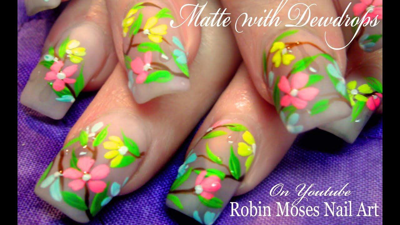 Nails Art: DIY Easy Water Droplet Spring Nails