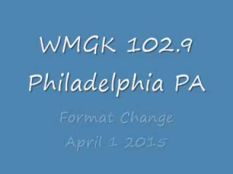 WMGK 102 9 Philadelphia PA   Format Change  April 1 2015