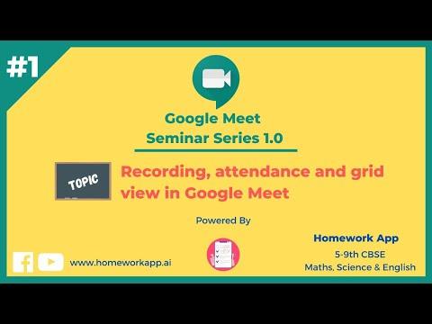 Google Meet Seminar Series - 1 - Homework App