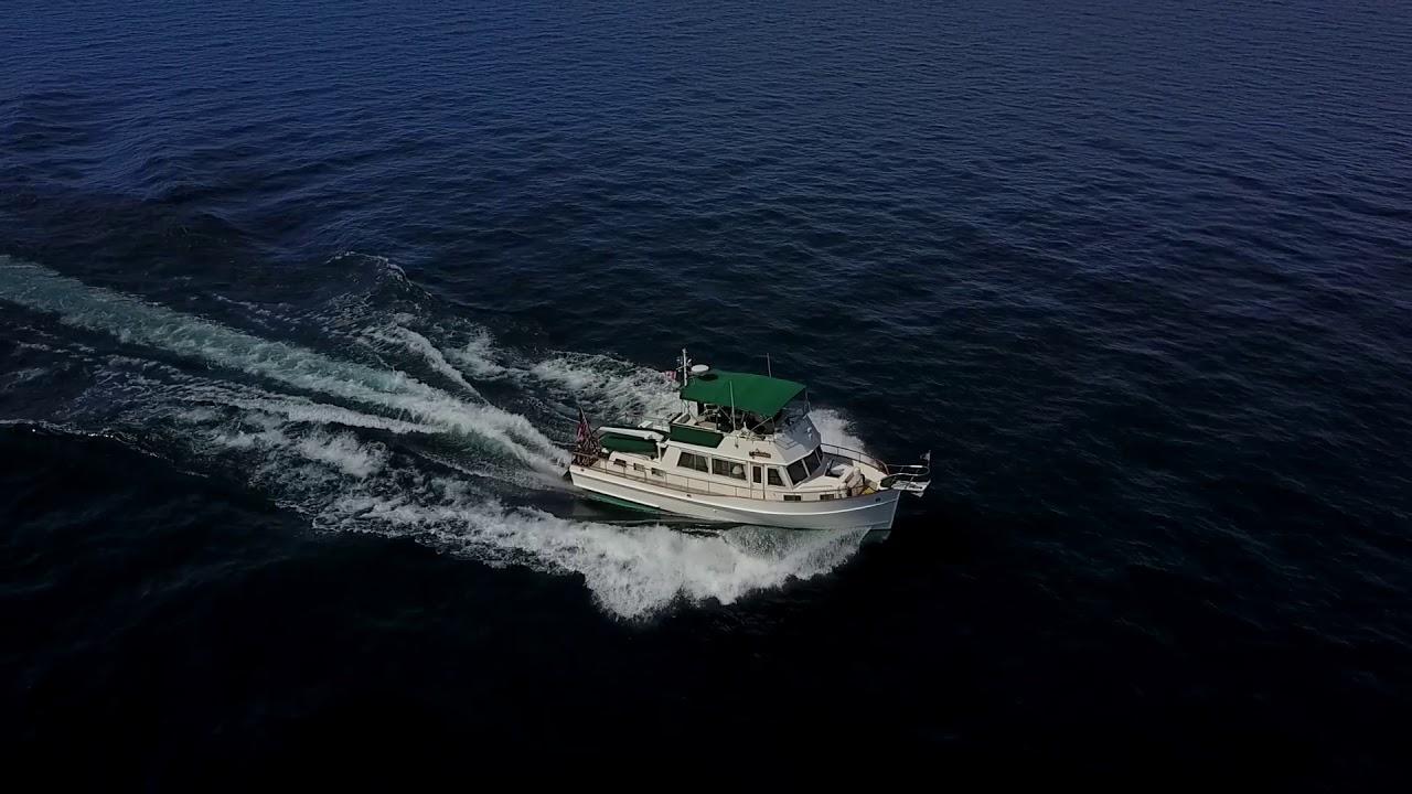 Grand Banks and Marine Trader -Trawlers underway on Lake Michigan ...