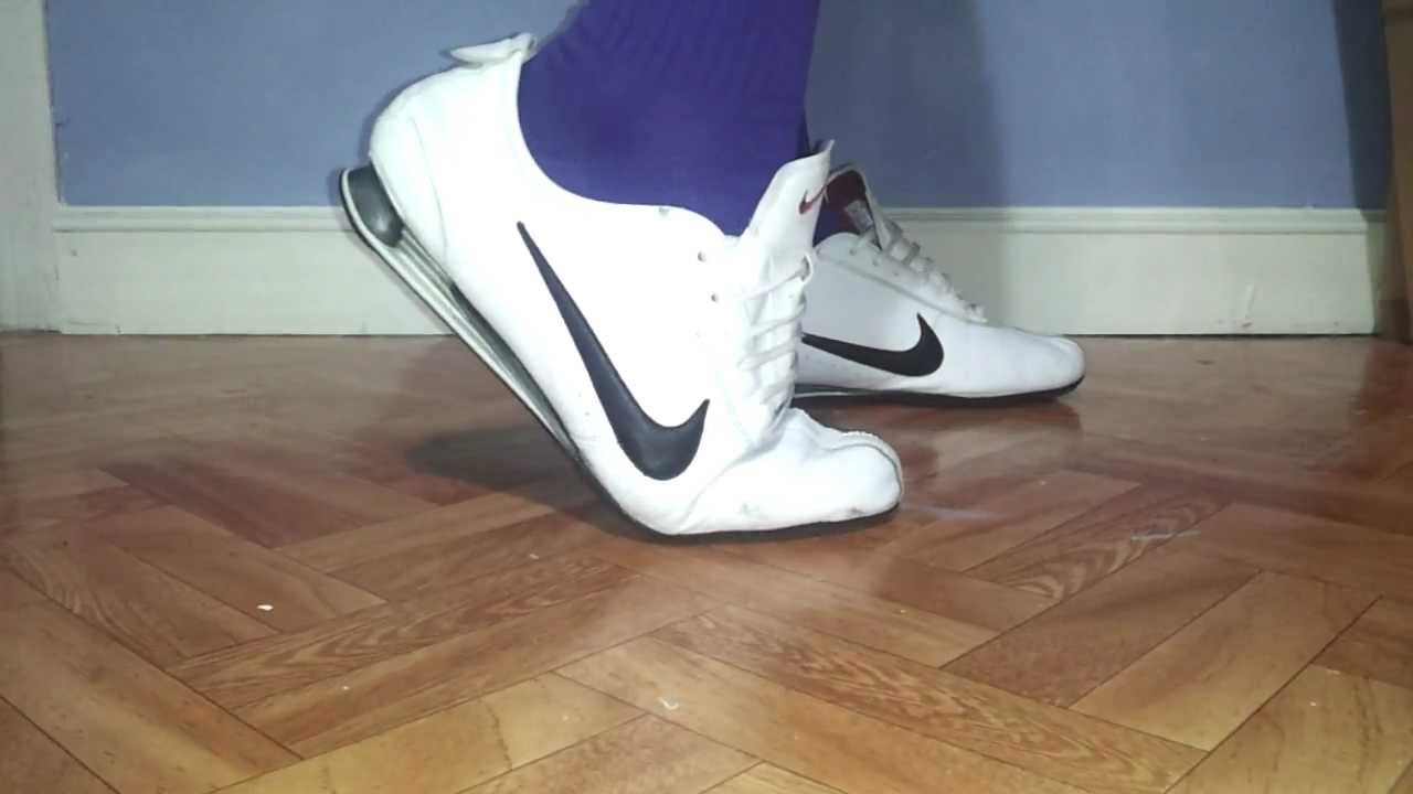 competitive price 94185 1a429 Nike Shox Rivalry White and Adidas Soccer Socks - YouTube