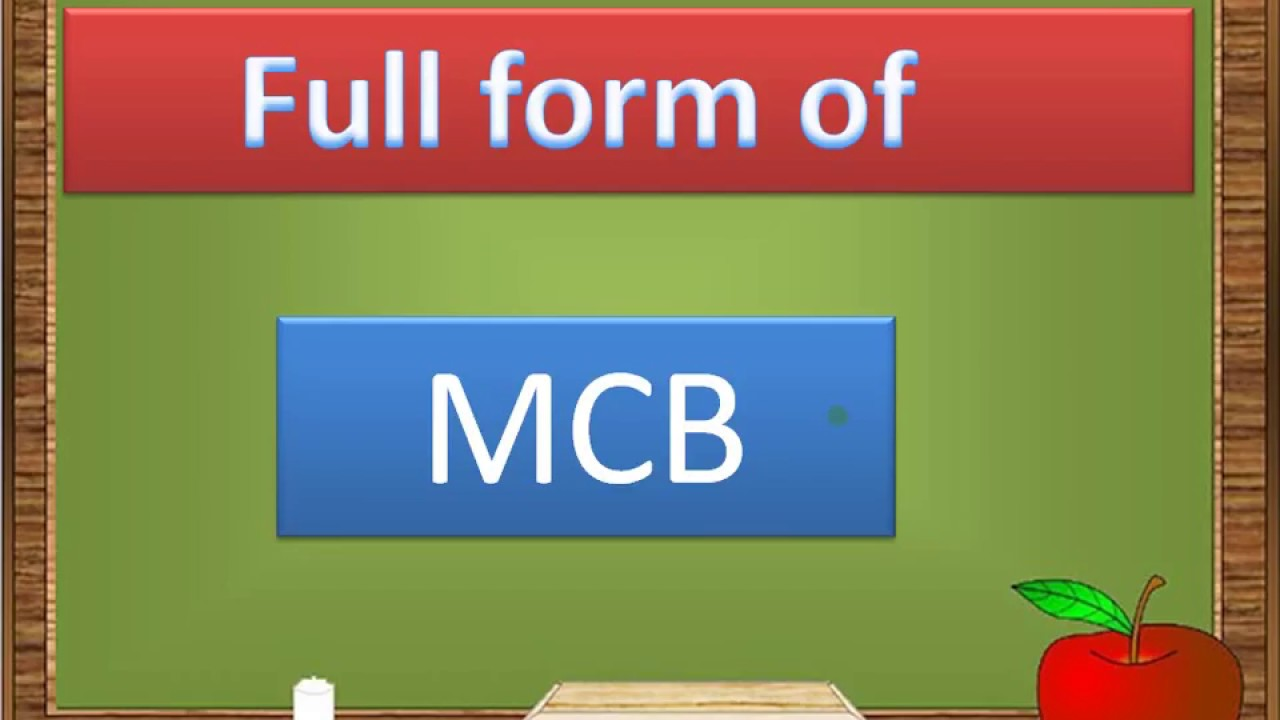 Image result for picture of full form of mcb