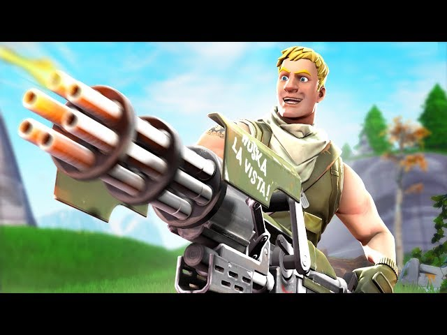Fortnite broke the minigun...