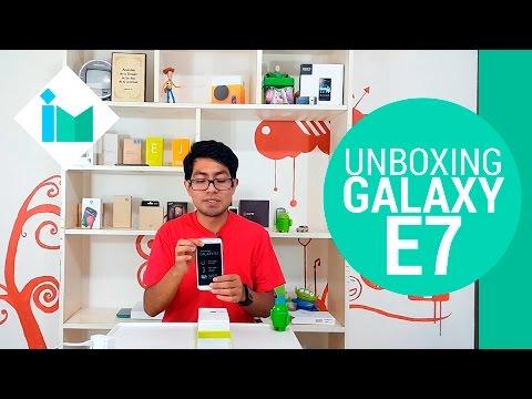 Samsung Galaxy E7 - Unboxing en español