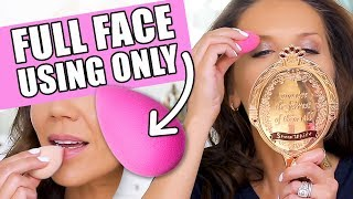 FULL FACE OF MAKEUP USING ONLY A BEAUTYBLENDER