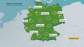 Der sonntag bringt erst verbreitet dichte wolken und es gehen gebietsweise einige kräftige regengüsse nieder. später kommt dann auch zum teil die sonne hervo...