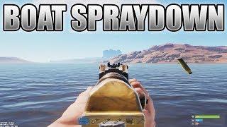 Boat Spraydown & Early Game Raids - Rust PVP&Raiding