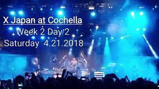 X Japan at Coachella Music Festival on 4.21.2018 - 紅 (Kurenai) - Rusty Nail