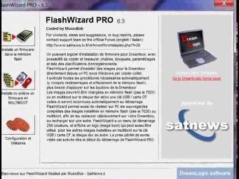 flash dreambox 500S Flashwizard avi