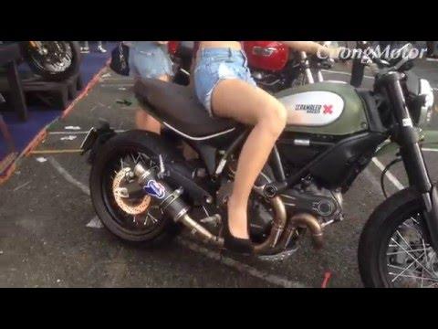 chi tiết Ducati Scrambler cùng PG xinh đẹp