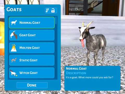 How to get static goat and clown goat - GoatZ
