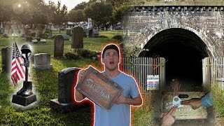 OUIJA BOARD AT HAUNTED MILITARY BASE CEMETERY / ZOZO IS FOLLOWING ME!