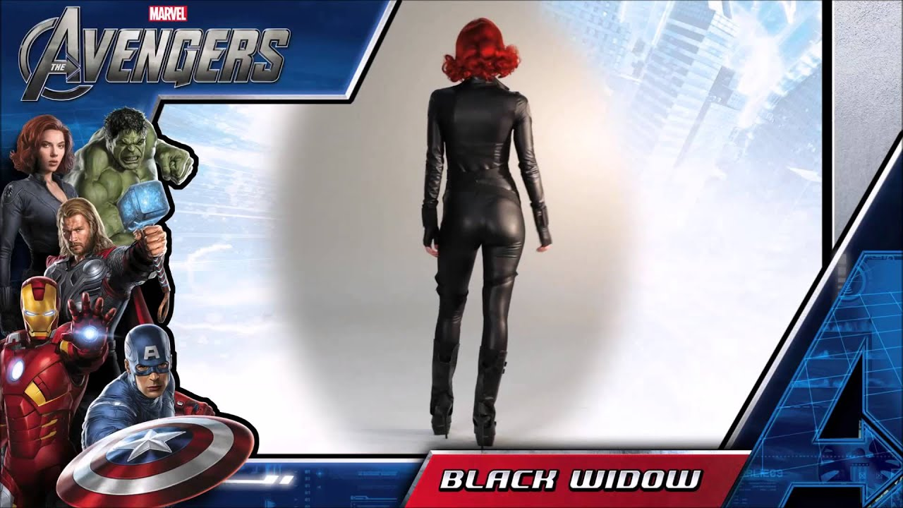 black widow kost m anprobe aus the avengers schwarze. Black Bedroom Furniture Sets. Home Design Ideas