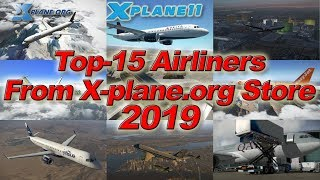 [X-plane 11] Top-15 Airliners from X-plane.org Store 2019