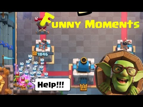 Funny Moments & Glitches & Fails & Wins | Clash Royale Montage #7